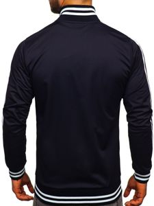 Bluza męska bez kaptura rozpinana retro style granatowa Bolf 11113