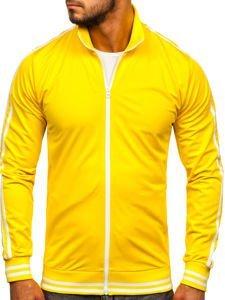 Bluza męska bez kaptura rozpinana retro style żółta Bolf 11113