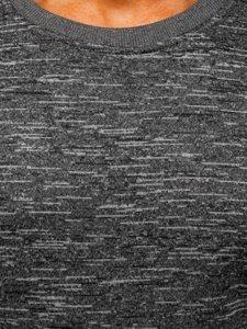 Bluza męska bez kaptura szara Denley 2001-4
