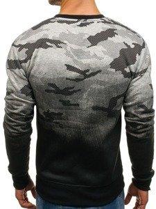 Bluza męska bez kaptura szara Denley DD130-2