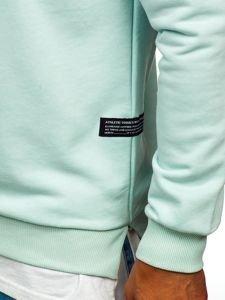 Bluza męska bez kaptura z nadrukiem miętowa Bolf 11114