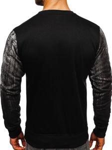 Bluza męska bez kaptura z nadrukiem szara Denley DD688