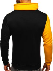 Bluza męska bez kaptura z nadrukiem żółta Denley HY607