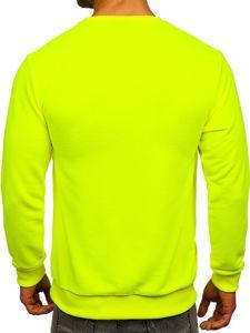 Bluza męska bez kaptura żółty-neon Bolf 171715