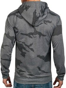 Bluza męska z kapturem antracytowa Denley 2257
