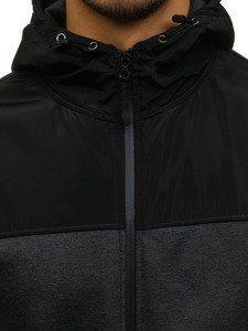Bluza męska z kapturem antracytowa Denley 2852