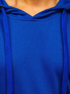 Bluza męska z kapturem chabrowa Denley 22002