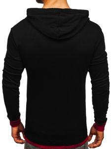 Bluza męska z kapturem czarna Bolf 145380
