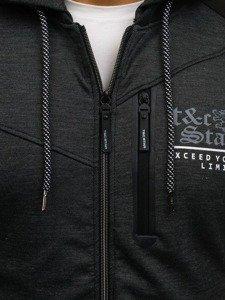 Bluza męska z kapturem czarna Denley 2097