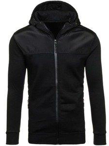 Bluza męska z kapturem czarna Denley 2852