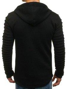 Bluza męska z kapturem czarna Denley 6010