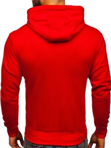 Bluza męska z kapturem czerwona Bolf 1004