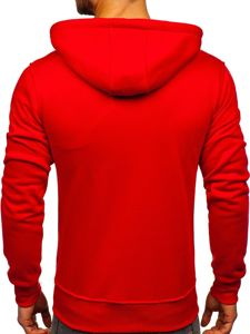 Bluza męska z kapturem czerwona Denley 2008