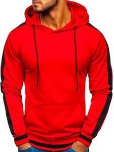 Bluza męska z kapturem czerwona Denley 99007