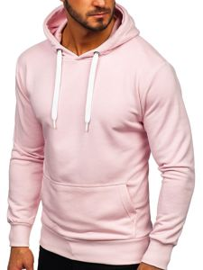 Bluza męska z kapturem jasnoróżowa Bolf 1004