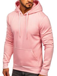 Bluza męska z kapturem jasnoróżowa Denley 2009