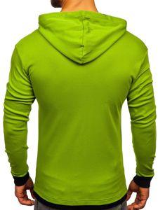Bluza męska z kapturem jasnozielona Bolf 145380