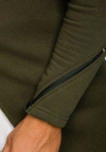 Bluza męska z kapturem khaki Bolf 9118