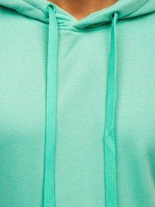 Bluza męska z kapturem miętowa kangurka Denley 2009-61