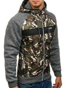 Bluza męska z kapturem moro-grafitowa Denley HH507