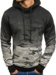 Bluza męska z kapturem moro-szara Denley DD132-1