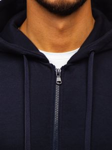 Bluza męska z kapturem rozpinana atramentowa Denley 2008