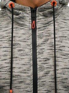 Bluza męska z kapturem rozpinana szara Denley DD97