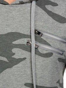 Bluza męska z kapturem szara Denley 2257