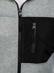 Bluza męska z kapturem szara Denley 2960