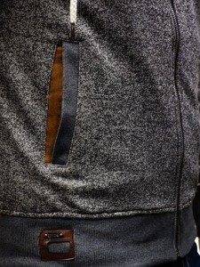Bluza męska z kapturem szara Denley 3512
