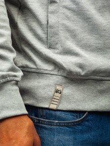 Bluza męska z kapturem szaro-antracytowa Denley T955