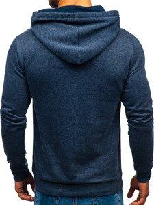Bluza męska z kapturem z nadrukiem antracytowa Denley 6215