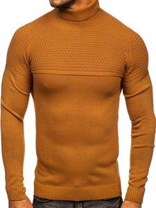 Brązowy sweter męski golf Denley 4624