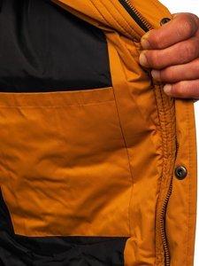 Camelowa kurtka męska zimowa Denley HY821