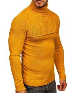 Camelowy sweter męski golf Denley 4624