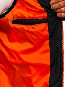 Czarna męska kamizelka z kapturem Denley 6102