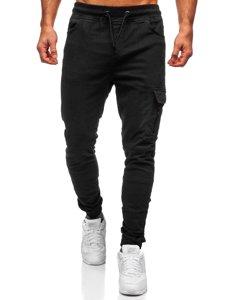 Czarne spodnie joggery bojówki męskie Bolf 11104