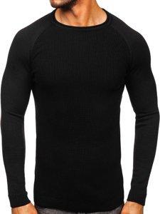 Czarny sweter męski Denley 1009