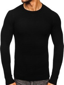 Czarny sweter męski Denley 4608