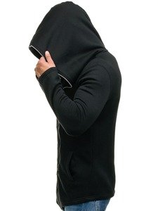 Długa bluza męska z kapturem czarna Denley Y36-2