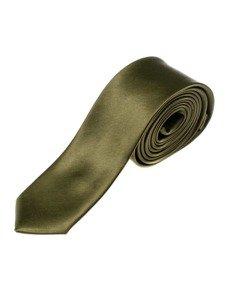 Elegancki krawat męski ciemnozielony Denley K001