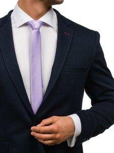 Elegancki krawat męski fioletowy Denley K001