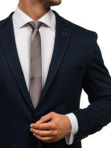 Elegancki krawat męski grafitowy Denley K001