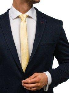 Elegancki krawat męski złoty Denley K001