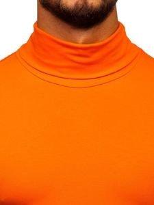 Golf męski bez nadruku pomarańczowy Bolf S6963