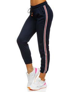 Granatowe spodnie dresowe damskie Denley YW01020A