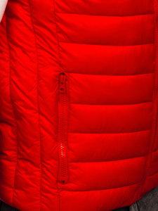Kamizelka męska pikowana bez kaptura czerwona Denley LY32