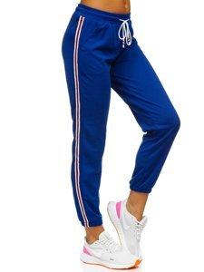 Kobaltowe spodnie dresowe damskie Denley YW01020A