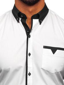 Koszula męska elegancka z długim rękawem czarna Bolf 5726-1