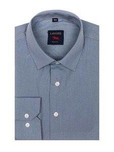 Koszula męska elegancka z długim rękawem szara Denley TS100